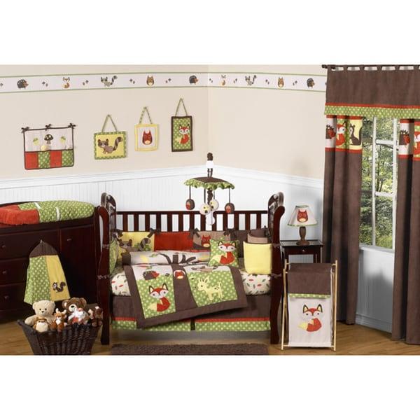 Sweet Jojo Designs Forest Friends 9-piece Crib Bedding Set