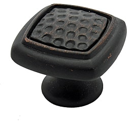 GlideRite Oil Rubbed Bronze Rounded Square Dimpled Cabinet Knobs (Pack of 25)