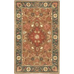 Hand-tufted Green/Tan Southwestern Empire New Zealand Wool Rug (3'3 x5'3)