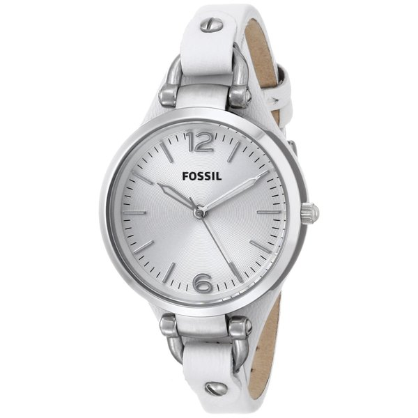 Fossil Womens ES2829 Georgia Three Hand Leather Watch
