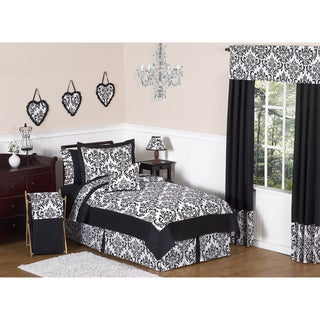 Sweet JoJo Designs 'Isabella' Black 3-Piece Full/ Queen Bedding Set