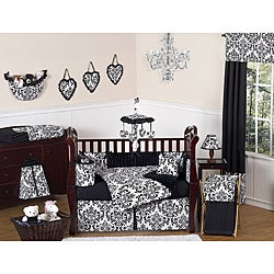 Isabella Black 9-piece Crib Bedding Set