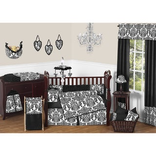 Isabella Black 9-piece Crib Bedding Set