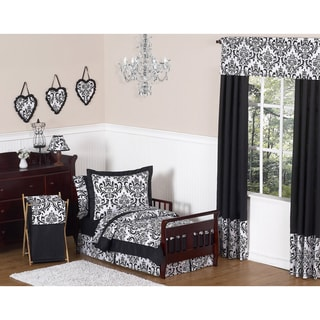 Sweet JoJo Designs 'Isabella' Black 5-Piece Toddler Bedding Set