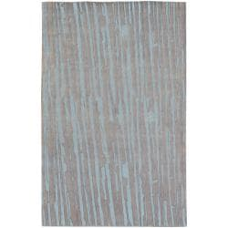 Candice Olson Hand-knotted Deal Abstract Plush Wool Rug (5' x 8')