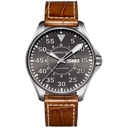 Hamilton Men's Khaki Pilot Brown Leather Strap Automatic Watch