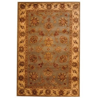 Herat Oriental Tufted Mahal Light Blue Rug (5' x 8') (India)