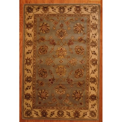 Tufted Mahal Light Blue Rug (5' x 8') (India)
