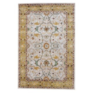 Indo Hand-tufted Mahal Beige and Gold Wool Rug (3'3 x 5'3)