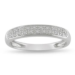 10k White Gold 1/10ct TDW Diamond Band (H-I, I2-I3)