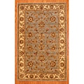 Indo Hand-tufted Mahal Floral Light Blue/ Beige Wool Rug (3'3 x 5'3)