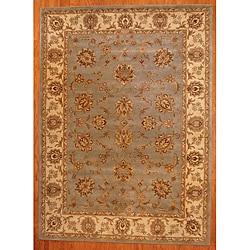 Indo Hand-tufted Blue Mahal Rug (8 x 11)
