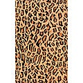Indo Hand-tufted 'Cheetah' Animal-print Black Wool Rug (5' x 8')