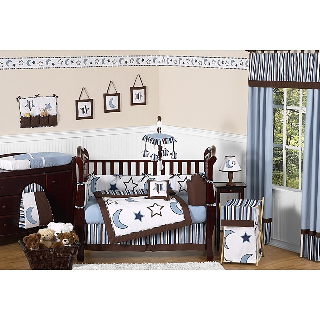 Starry Night 9-piece Crib Bedding Set
