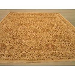 EORC Ivory Panel Kashmir Rug (8'10 x 9'10)