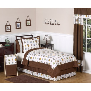 Sweet JoJo Designs Night Owl 4-piece Twin-size Bedding Set