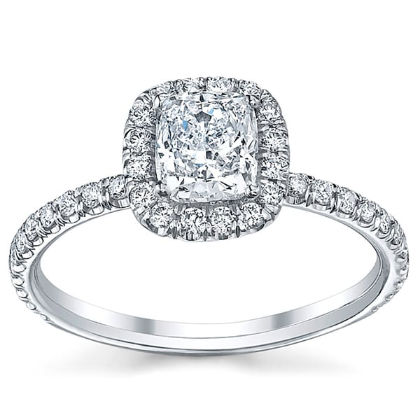 18k White Gold 3/4ct TDW Engagement Ring (H, SI2)