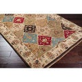 Hand Knotted Brading Hand Spun New Zealand Wool Rug (5'X8')