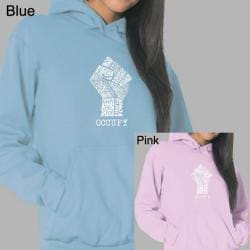 Los Angeles Pop Art Women's Occupy Wall Street Fight The Power Fist Hoodie