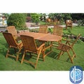 International Caravan Royal Tahiti 'Saragossa' 7-piece Outdoor Dining Set
