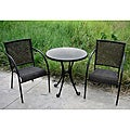 International Caravan Set of Three 'Madrid' Resin Wicker Outdoor Bistro Group