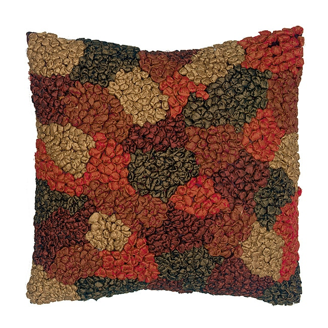LNR Home Contemporary Brown/ Grey Geo-Dot Knots 18-inch Pillow