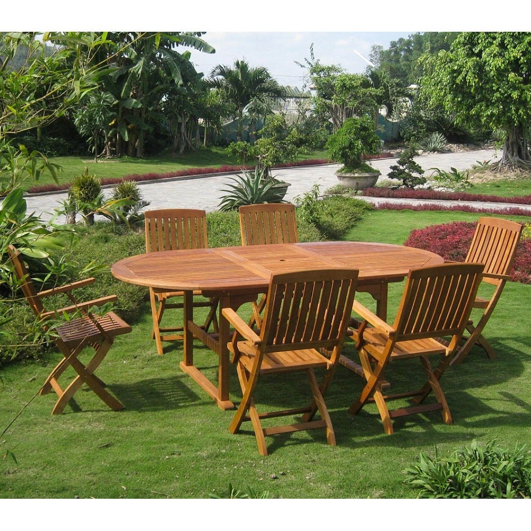 International Caravan Royal Tahiti 'Alicante' 7-piece Outdoor Dining Set at Sears.com