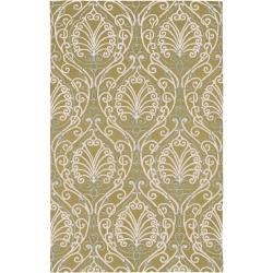 Candice Olson Hand-tufted Sevran BoGreenical Pattern Wool Rug (5' x 8')