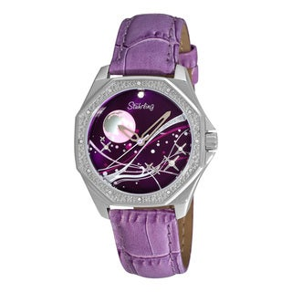 Stuhrling Original Women's Lady Nemo Universe Purple-Strap Swiss Quartz Watch