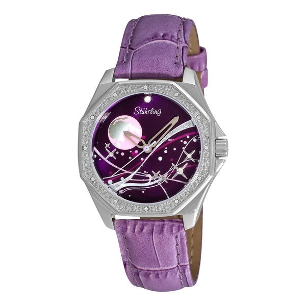 Stuhrling Original Women's Lady Nemo Universe Purple-Strap Swiss Quartz Watch