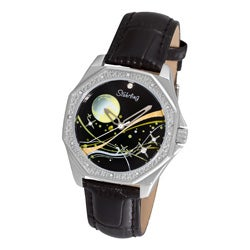 Stuhrling Original Women's Lady Nemo Universe Black-Strap Swiss Quartz Watch