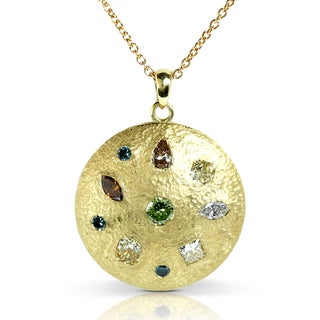 Annello 18k Gold 2 7/8 ct TDW Certified Multi-diamond Pre-Modern Necklace