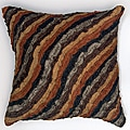 Damas Stripes Chocolate 18-inch Pillow (Set of 2)