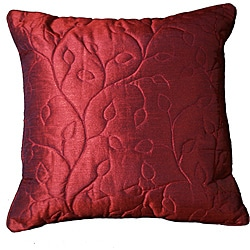 Stitched Vines Grape 18-inch Pillow (Set of 2)