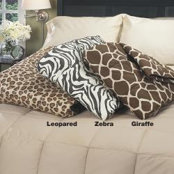 Luxury 300 Thread Count Animal Print Down Throw