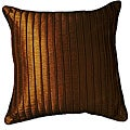 "Marlane Ribbs Chocolate 18"" Pillow (Set of 2)"