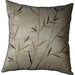 LNR Home Sedge Leaves Ivory 18-inch Pillow