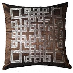 LNR Home Chocolate Geo-Ando 18-inch Pillow
