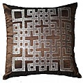"Geo-Ando Chocolate Pillow 18"" (Set of 2)"