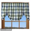 Plymouth Plaid 21-inch Valance with Button Straps