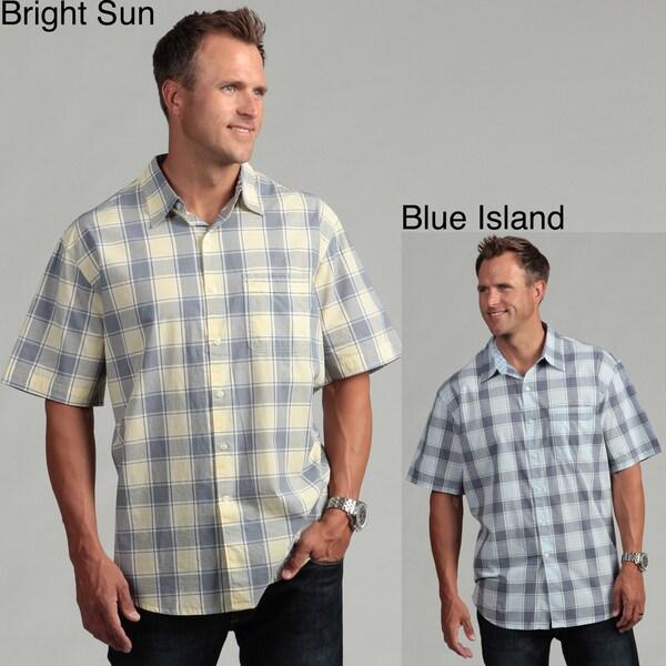 Izod Men's Plaid Woven Shirt