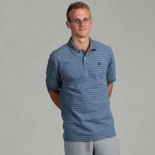 Izod Men's Oxford Pique Feeder Stripe Polo Shirt