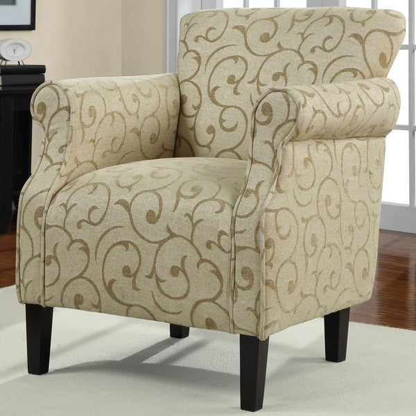 Tiburon Damask Chenille Arm Chair