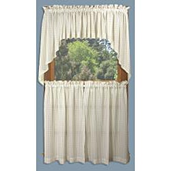 Dublin Stripe 5-piece 36-inch Curtain Set