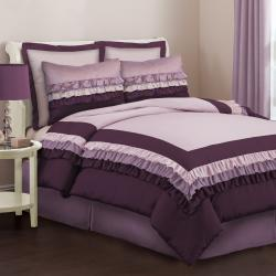 Lush Decor Starlet Purple Twin-size 3-piece Comforter Set