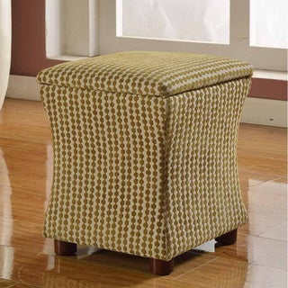 Geometric Kiwi Cinch Storage Ottoman