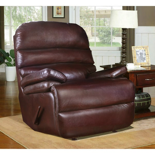 Huntington Contemporary Recliner in Mahogany