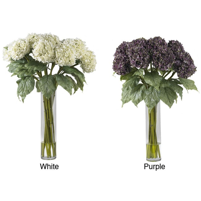 Hydrangea Silk Flower Arrangement in Vase
