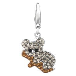 Sterling Silver Crystal Koala Charm