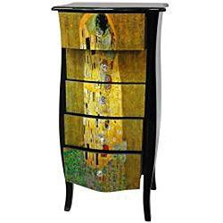 Klimt Five Drawer Cabinet - The Kiss (China)